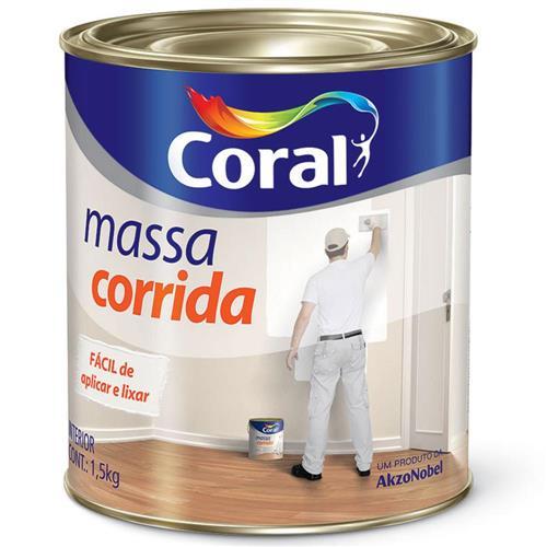 Massa Corrida PVA 1.5Kg Branca - 5202595 - CORAL