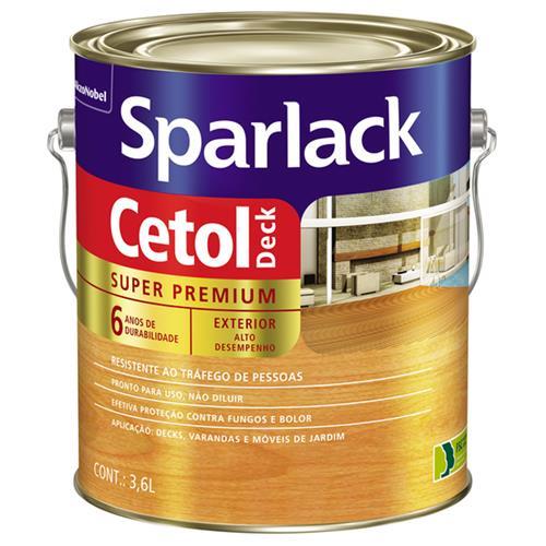 Verniz Sparlack Cetol Deck Semi Brilho Para Madeira Natural 3,6 Litros - SPARLACK