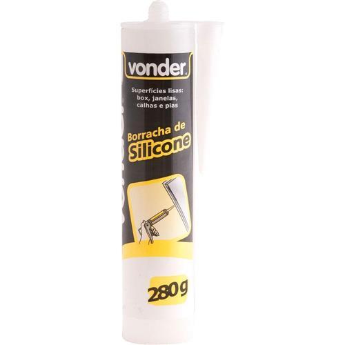 Borracha de Silicone Acético 280g Branco - 16 47 280 102 - VONDER