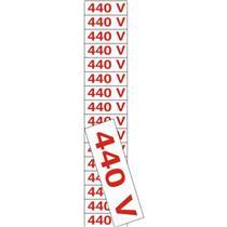 16 Placas de Poliestireno Auto-Adesiva 4x1.5cm 440 V - 200 BB - SINALIZE