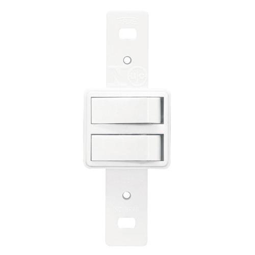 2 Interruptores Paralelos 10A 250V Blanc - 0641 - FAME