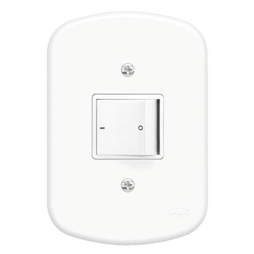 Interruptor Bipolar Simples 10A 250V Blanc - 1018 - FAME
