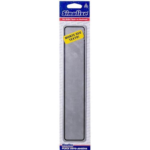 Placa em aluminio  5x25cm monte seu text  - 100DL - SINALIZE