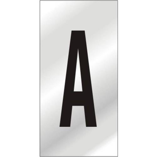 Placa de Alumínio Auto-Adesiva 2.5x5cm Letra A - 170 AA - SINALIZE