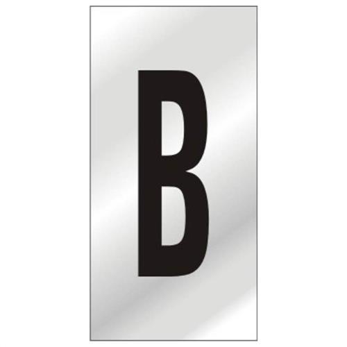 Placa de Alumínio Auto-Adesiva 2.5x5cm Letra B - 170 AB - SINALIZE