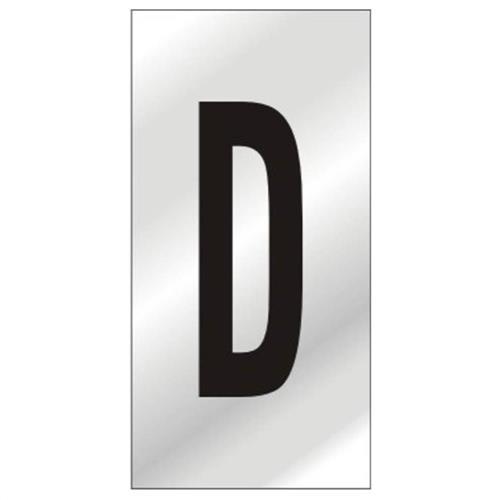 Placa de Alumínio Auto-Adesiva 2.5x5cm Letra D - 170 AD - SINALIZE