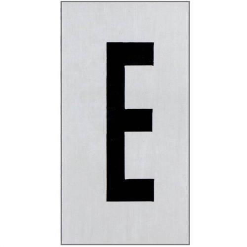 Placa de Alumínio Auto-Adesiva 2.5x5cm Letra E - 170 AE - SINALIZE