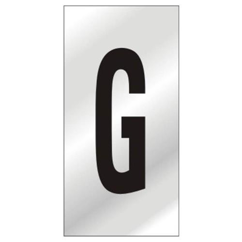 Placa de Alumínio Auto-Adesiva 2.5x5cm Letra G - 170 AG - SINALIZE