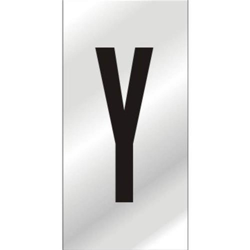 Placa de Alumínio Auto-Adesiva 2.5x5cm Letra Y - 170 AY - SINALIZE