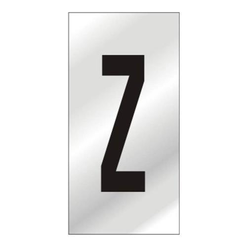 Placa de Alumínio Auto-Adesiva 2.5x5cm Letra Z - 170 AZ - SINALIZE