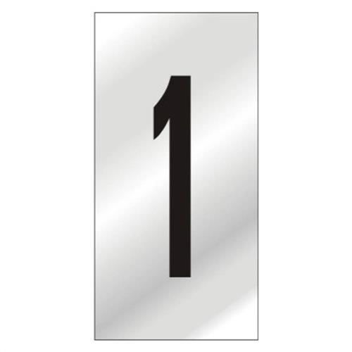 Placa de Alumínio Auto-Adesiva 2.5x5cm Numero 1 - 170 BB - SINALIZE
