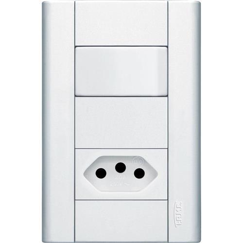Interruptor Paralelo + Tomada 2P+T 10A 250V Distanciados  Modulare - 1439 - FAME