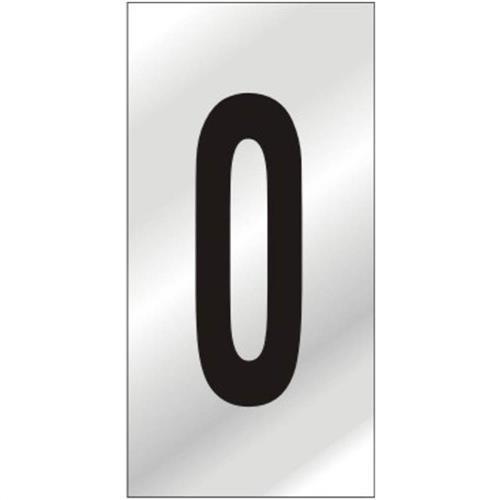 Placa de Alumínio Auto-Adesiva 5x8cm Numero 0 - 160 BA - SINALIZE