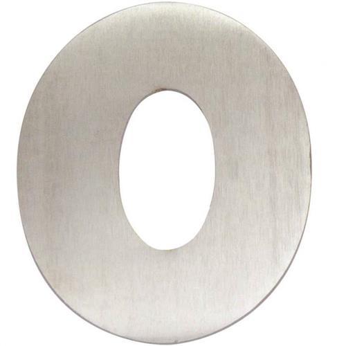 Algarismo Alumínio Escovado Pequeno Número 0 - 1873 - STANFER