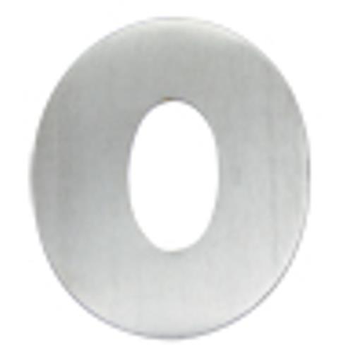 Algarismo de Alumínio Polido Pequeno 4cm Número 0 - 1798 - STANFER