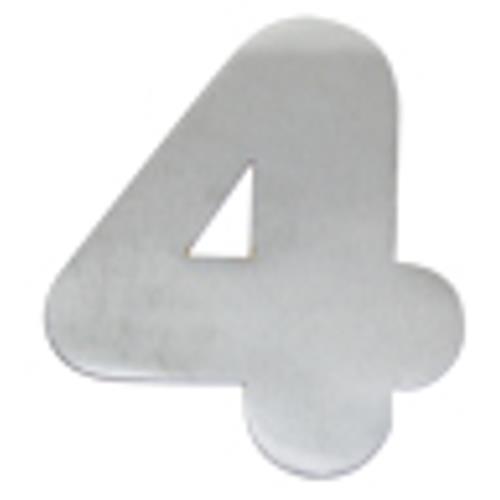 Algarismo de Alumínio Polido Pequeno 4cm Número 4 - 1802 - STANFER