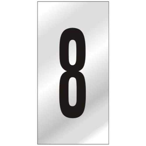 Placa de Alumínio Auto-Adesiva 5x8cm Numero 8 - 160 BI - SINALIZE