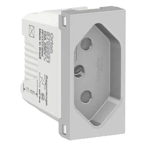 Módulo Tomada 2P+T 10A 250V 1M Alumínio - S70202174 - SCHNEIDER
