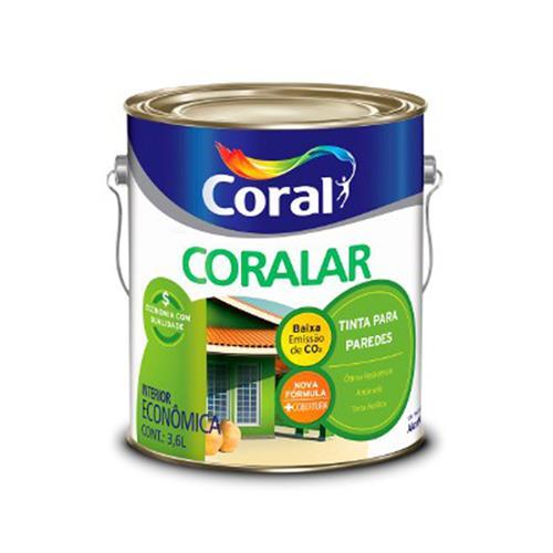 Tinta Acrílica Coralar Amarelo Canário 3,6 Litros - CORAL