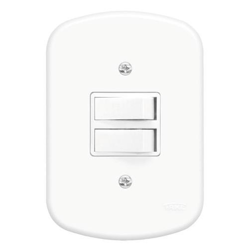 2 Interruptores Simples 10A 250V Blanc - 0627 - FAME