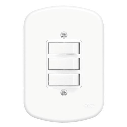 3 Interruptores 10A 250V Blanc - 0656 - FAME