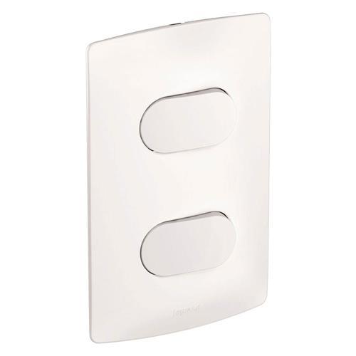 2 Interruptores Simples 4x2 NY BR 10A Nereya - 663101 -  PIAL