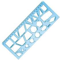 Régua Geométrica Azul - 352/10270037 - WALEU