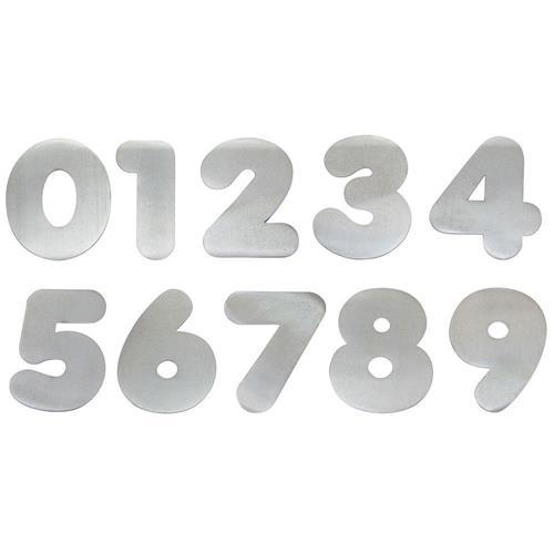 Algarismo Alumínio Polido Número 6 - 280400 - STANFER