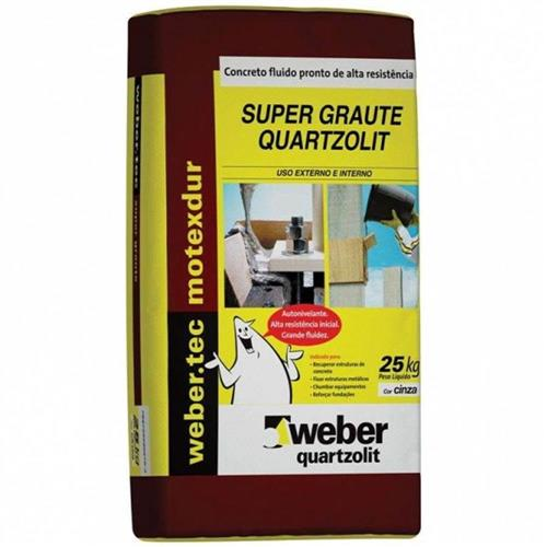 Argamassa Super Graute Para Concreto 25kg Weber - QUARTZOLIT
