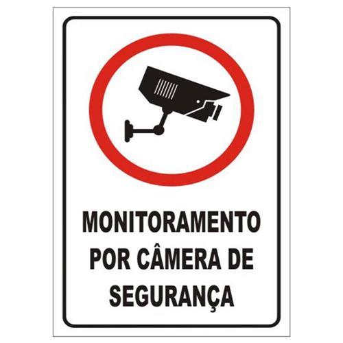 Placa de poliestireno auto adesiva 20x30cm monitoramento - Placa de poliestireno ...