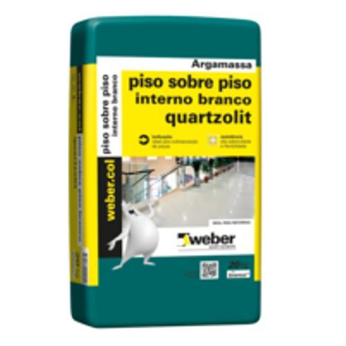 Argamassa Cimentcola Piso Sobre Piso Interno 20kg  Branca Weber - 0046000000020PL - QUARTZOLIT