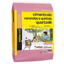 Argamassa Varandas e Quintais 20 KG CINZA - 030900010020PA/PL - QUARTZOLIT
