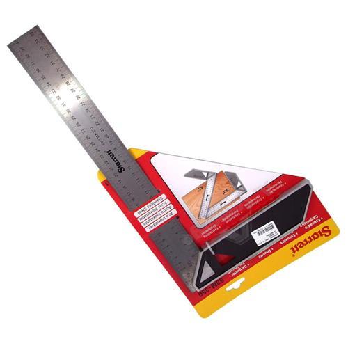 Esquadro Para Carpinteiro Com Cabo Aluminio 350mm - 53M350S - STARRETT
