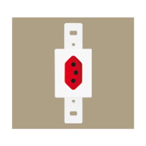 Tomada 2P+T 20A 250V Vermelha Blanc - 2335 - FAME