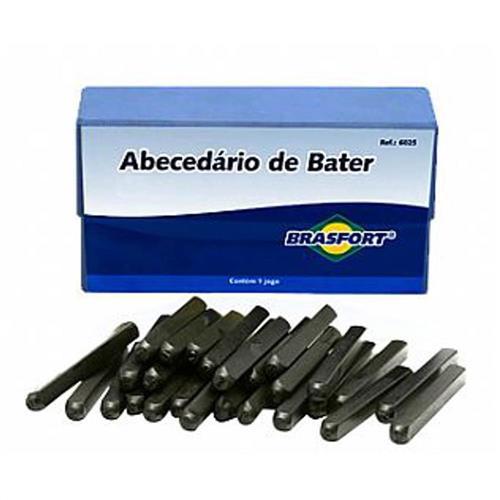 Abecedário de Bater 3mm - 6020 - BRASFORT