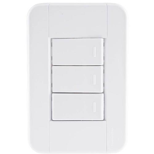 Conjunto 3 Interruptores Simples 10A 250V Tablet - 57240/070 - TRAMONTINA