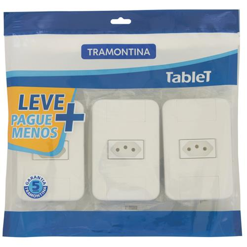 3 CJ.1 TOMADA 2P+T10A 250V TABLET TRAMON