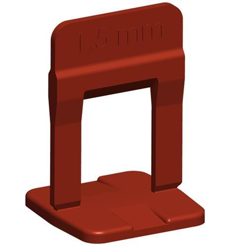 Espaçador Para Nivelamento Slim Vermelho 1,5mm 100 Peças - 61.535 - CORTAG