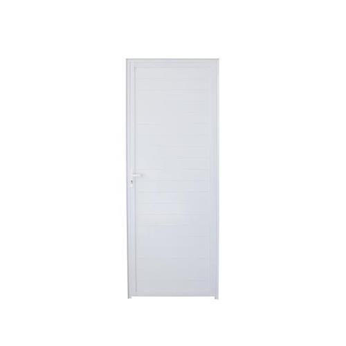 Porta de Alumínio Lambril Branca Direito 210 x 80 L-25 - FACCE