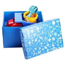 Caixa Organizadora 45x33x20cm Azul - 39.BAZ.1102 - ATCO