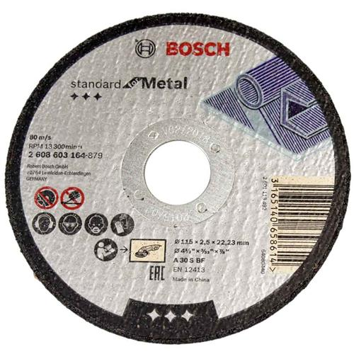Disco Corte para Metal 115MM Grão 30 - 2608.603.164-000 - BOSCH