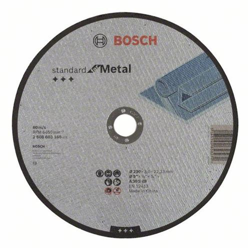 Disco Corte para Metal 230MM Grão 30 - 2608.603.168-000 - BOSCH