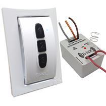 Kit Interruptor Sem Fio Branco/Branco Teclas Pretas - PAKIT02BRB RPT - E-LUX