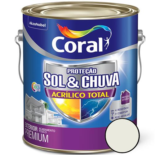 Sol & Chuva Acrilico Total Branco 3,6 Litros - 5281034 - CORAL