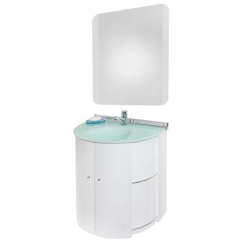 Conjunto Gabinete com Espelho Branco 58.5cm Space - 000986-5 - CRIS METAL