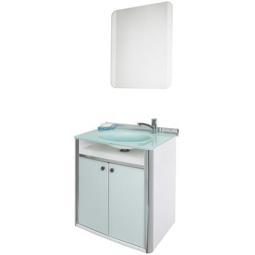 Conjunto Gabinete com Espelho Branco 62.5cm Classic - 000931-8  - CRIS METAL