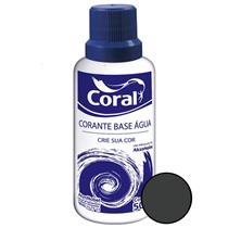 Corante Base Água Preto 50ML - CORAL