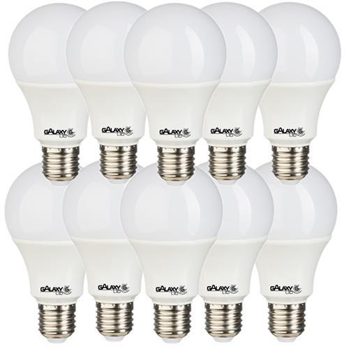 Kit 10 Lâmpadas LED Bulbo 9W 6500K - GALAXY LED