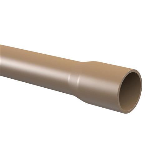 Tubo de PVC Marrom Soldável  75mm com 6 Metros - 10120756 - TIGRE