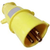Plugue 2P+T 16A 100/130V 4H Amarelo - N-3074 - STECK